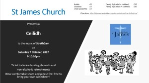 Ceilidh Invite 7th October 2017