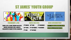 Youth Group Dates 2018