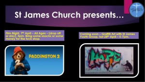 April Youth Group poster