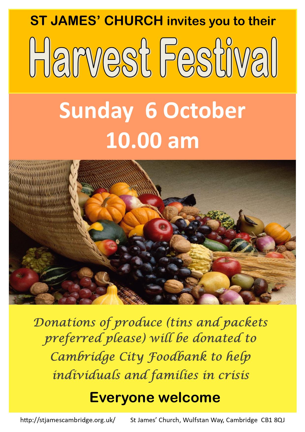 Harvest Festival Poster 2019