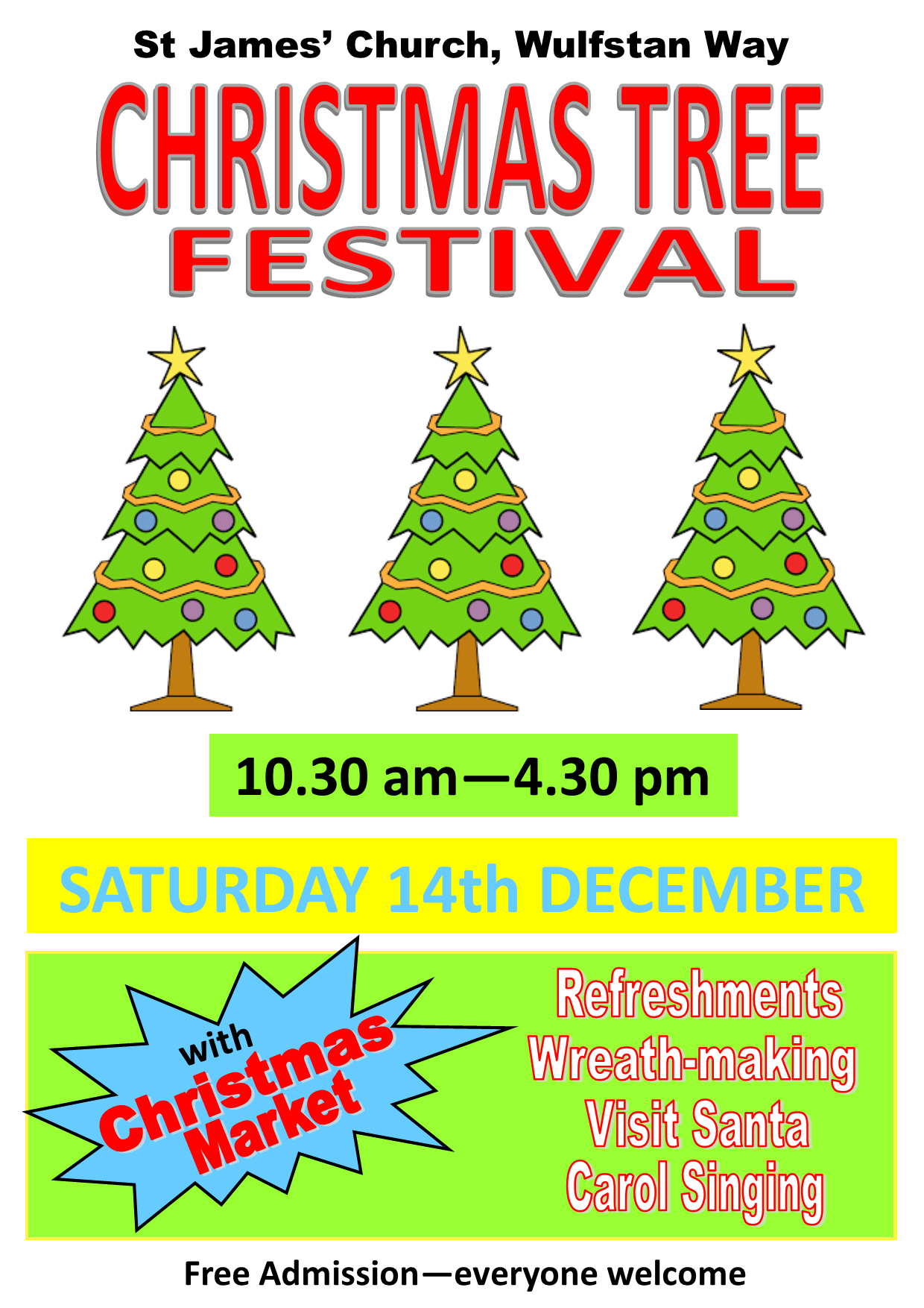 2019 Christmas Tree Festival with Market POSTER