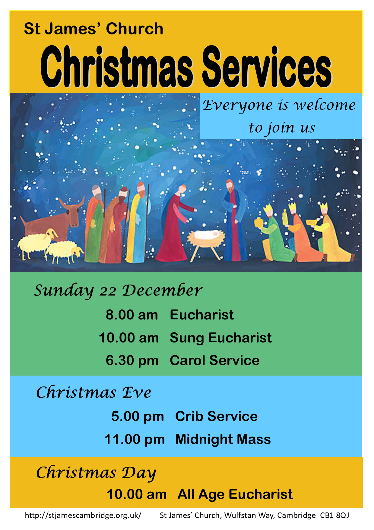 2019 Christmas SERVICES poster